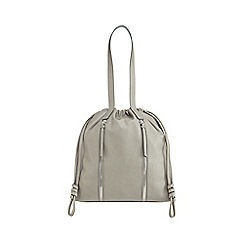 RJR.John Rocha - Grey drawstring shopper bag