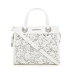RJR.John Rocha - White floral laser cut grab bag