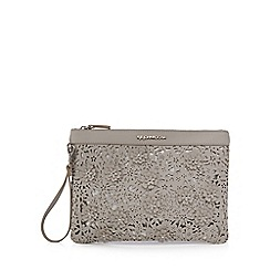 RJR.John Rocha - Grey floral laser cut clutch bag