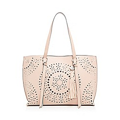 RJR.John Rocha - Light pink laser cut shopper bag