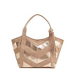 Nine by Savannah Miller - Light pink suede chevron tote bag