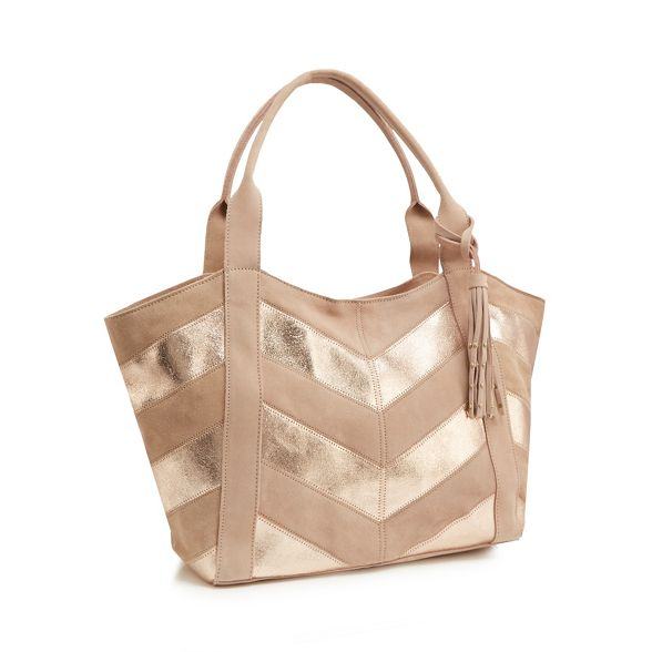 Nine by pink bag Miller tote chevron Savannah Light suede rrOxUdqCw