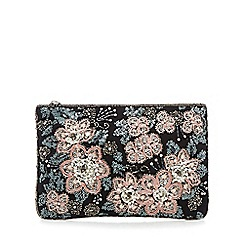 Nine by Savannah Miller - Black embellished clutch bag