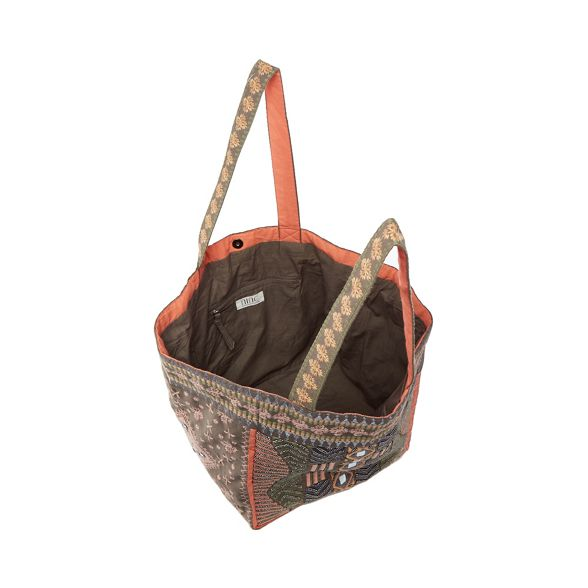 Miller Grey Nine cotton Savannah beaded tote by bag waBBqHnO