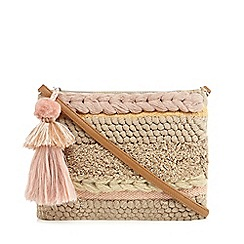 Nine by Savannah Miller - Natural textured weave cross body bag