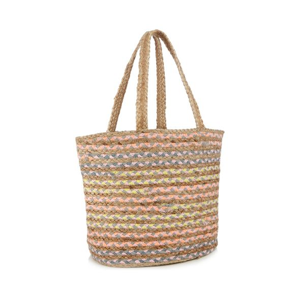 stripe jute shopper coloured by Miller bag Multi Savannah Nine SwxRq1aX
