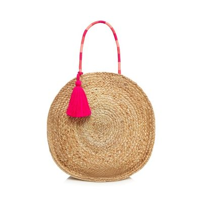 Nine by Savannah Miller – Natural straw circular tote bag