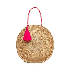 Nine by Savannah Miller - Natural straw circular tote bag