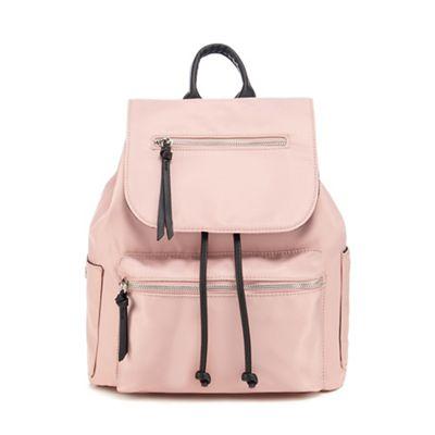 Red Herring Light pink nylon backpack   Debenhams f625d7f51a
