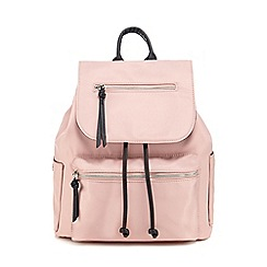 Red Herring - Light pink nylon backpack