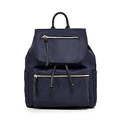 Red Herring - Navy nylon backpack