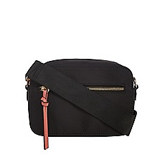Red Herring - Black zip detail cross body bag