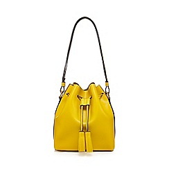 Red Herring - Yellow drawstring duffle bag