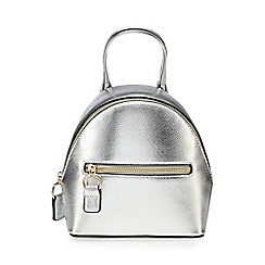 Red Herring - Silver zip detail mini backpack