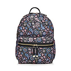 Red Herring - Multi-coloured paisley print backpack