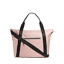 Red Herring - Light pink nylon shopper bag