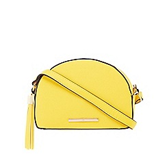 Red Herring - Yellow tassel cross body bag