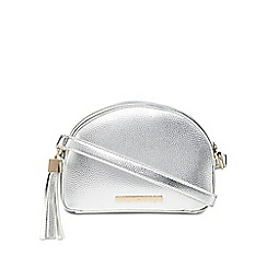 Red Herring - Silver tassel curve cross body bag