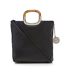 Faith - Black tortoiseshell handle grab bag