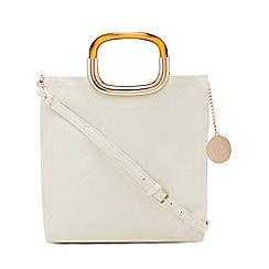 Faith - White tortoiseshell handle grab bag