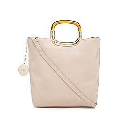 Faith - Pink tortoiseshell handle grab bag
