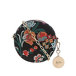 Faith - Multi-coloured floral print circle cross body bag