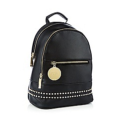 Faith - Black studded backpack