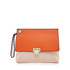 Faith - Orange clutch bag