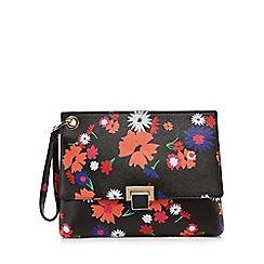 Faith - Multi-coloured floral print clutch bag