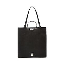 Faith - Black colour block shopper bag