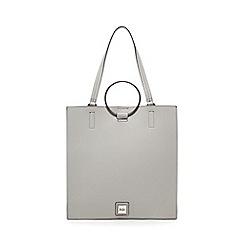 Faith - Grey colour block shopper bag