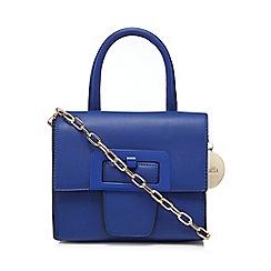 Faith - Blue mini buckle cross body bag