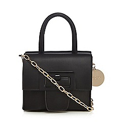Faith - Black mini buckle cross body bag