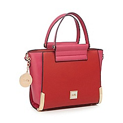 Faith - Red colour block winged grab bag