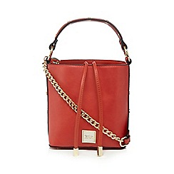 Faith - Red studded strap bucket bag