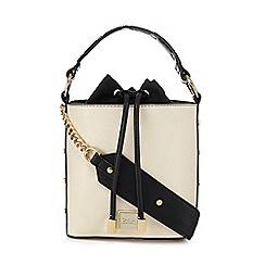 Faith - Off white studded strap bucket bag