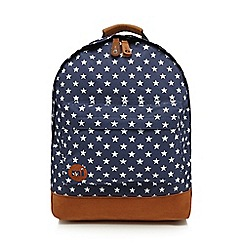 Mi-Pac - Navy 'All Star' zipped backpack
