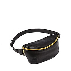 Mi-Pac - Black tumbled leatherette bumbag