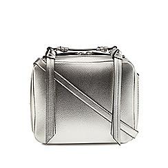 Faith - Silver zip detail grab bag