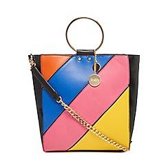Faith - Multi-coloured rainbow stripe shopper bag