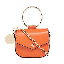 Faith - Orange ring detail cross body bag