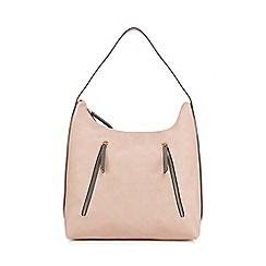 Red Herring - Light pink multi zip shopper bag