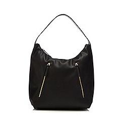 Red Herring - Black multi zip shopper bag