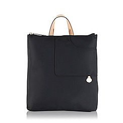 Radley - Pocket essentials black large zip-top backpack