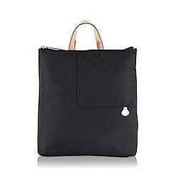 Radley - Pocket essentials black large zip-top backpack
