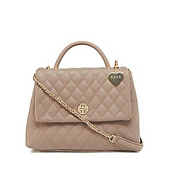 Marc B - Taupe 'Olivia' quilted grab bag
