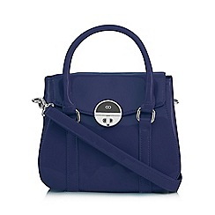 The Collection - Navy patent small grab bag