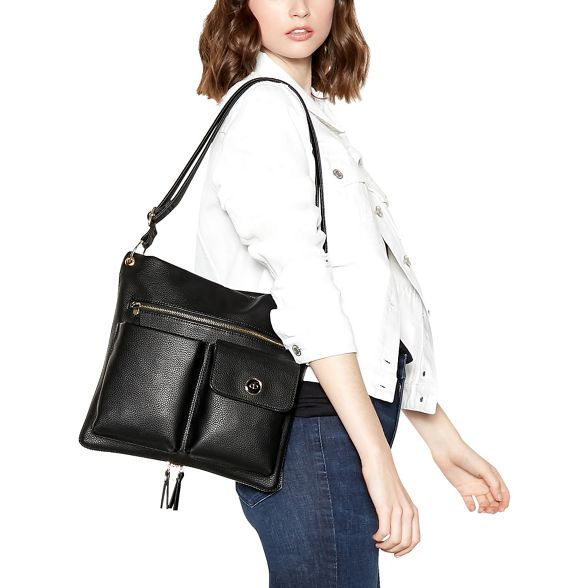 Black Collection pocket bag shoulder The double qz67x5