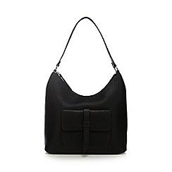 The Collection - Black front tab shoulder bag