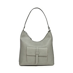 The Collection - Grey front tab shoulder bag